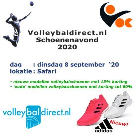 Volleybaldirect schoenenavond – 8 sep.